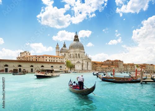 Grand canal i bazylika Santa Maria Della Salute, Wenecja, Włochy