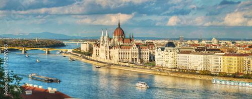 Rozległa panorama Budapesztu