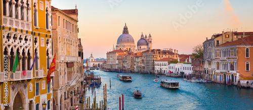 Canal grande w Wenecji, Włochy.