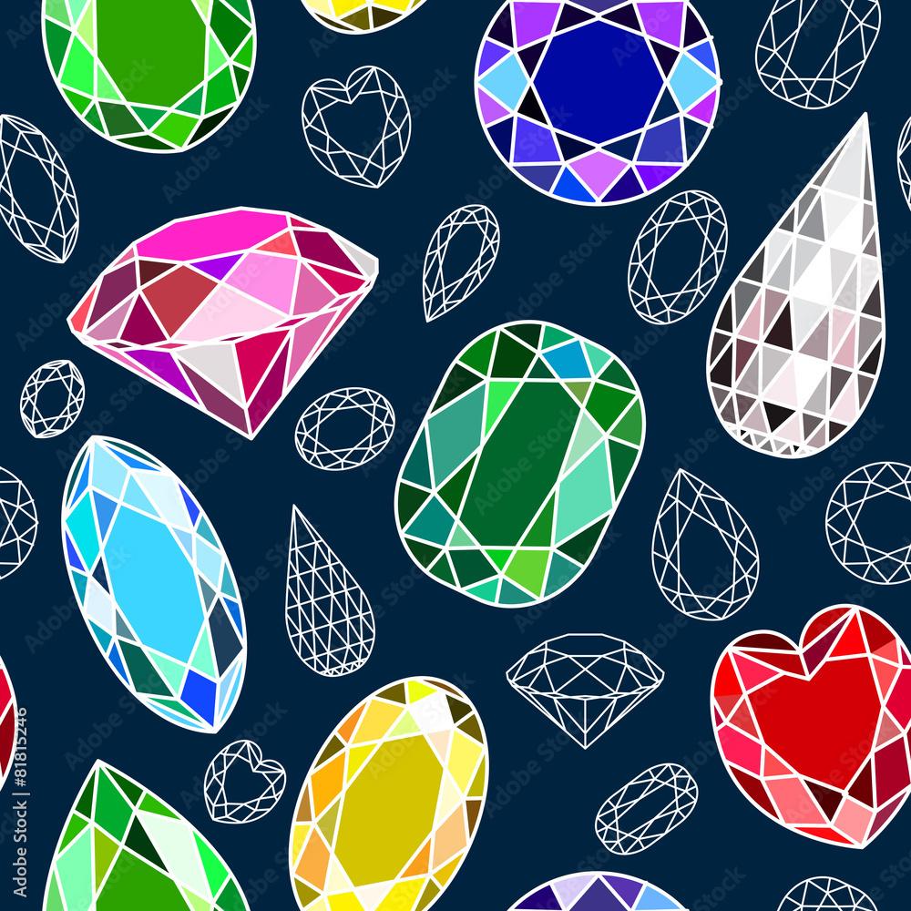 bezszwowe tło z diamentami