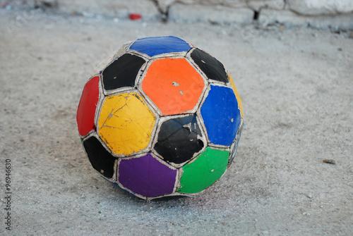 Vintage, kolorowe piłki nożnej
