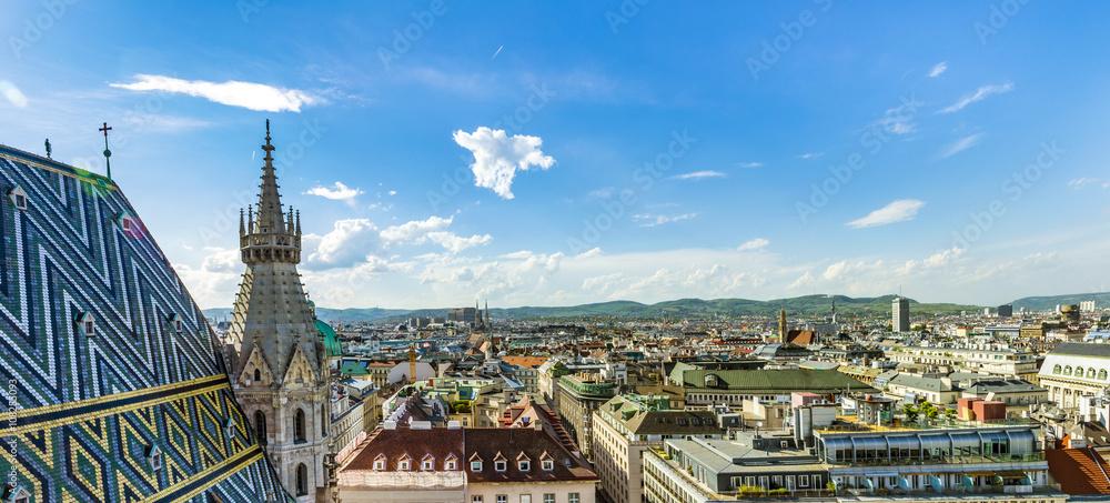 Widok Z Lotu Ptaka Wiedeńskiej Miejski Krajobraz