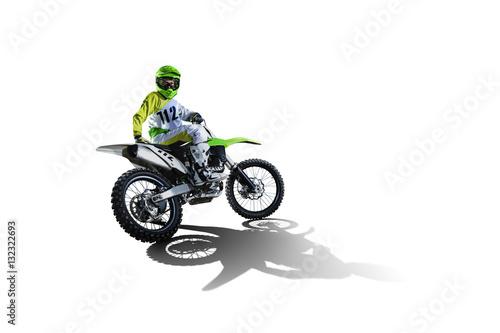 Rower i Jeźdźca na białym tle