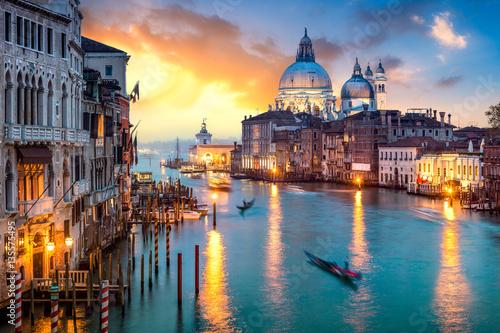 Wenecja na zachodzie słońca