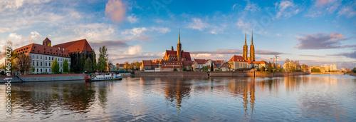 Wrocław, Polska - Panorama historycznej i zabytkowej części starego miasta