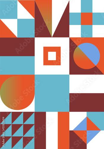 Streszczenie nowoczesne geometryczne tło