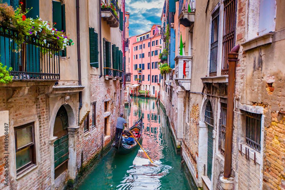 Gondole w Wenecji, Włochy