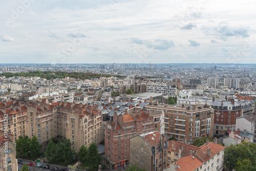 Paryż, piękna panorama na miasto i słynne zabytki
