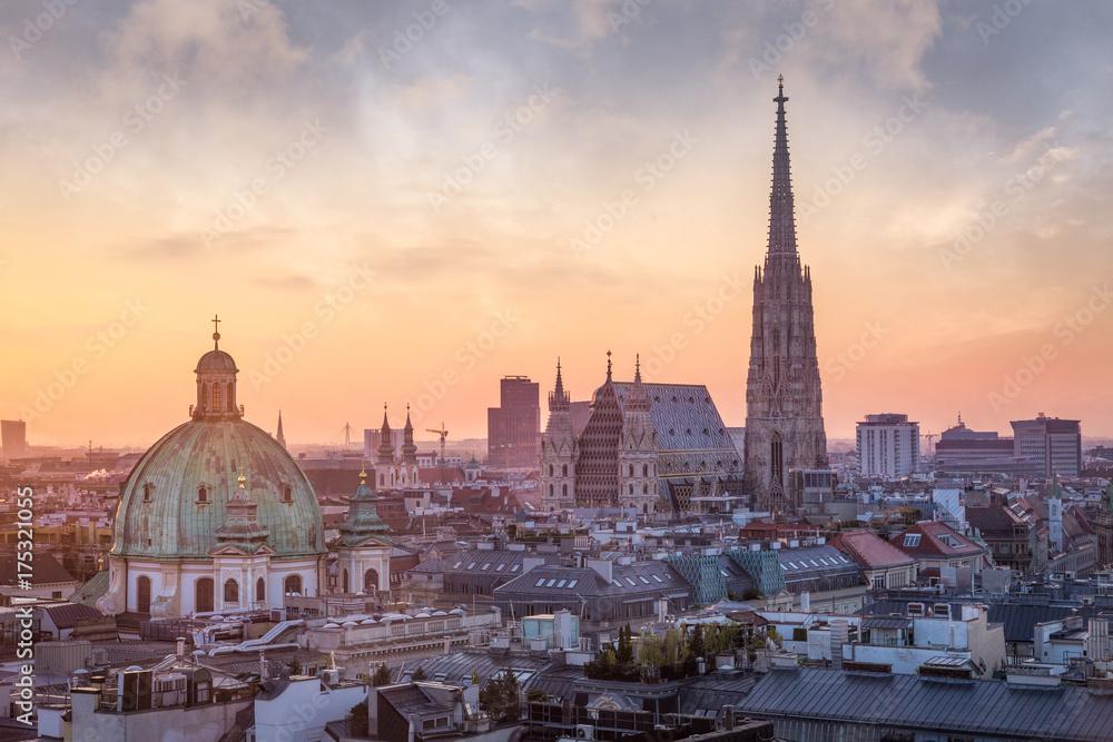 Panoramę wiednia z Katedry Świętego Szczepana, Wiedeń, Austria
