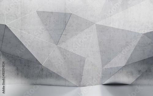Streszczenie wnętrze ściany z wielokąta wzorem