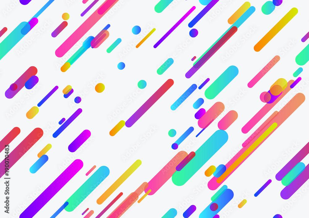 Bezszwowe modne neonowe linie wzór bezszwowe tło wzór