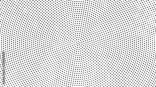 Skala odcieni szarości kropkowanym tle. Skala odcieni szarości efekt wektor wzór. Punkty okręgu, na białym tle na białym tle.