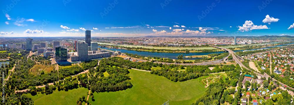 Wiedeń krajobraz i pejzaż lotnicze panoramiczny widok