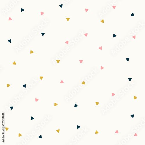minimalny design trójkąt wzór w pastelowych kolorach