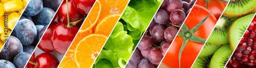 Tle mieszanych owoców i warzyw