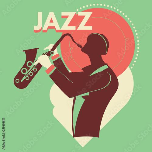 Fantazja saksofonista gra na saksofonie muzyka jazz