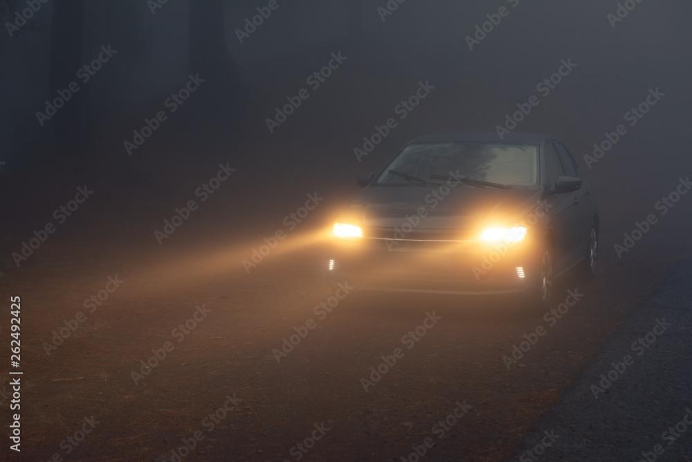motoryzacja świateł drogowych, w gęstej mgle