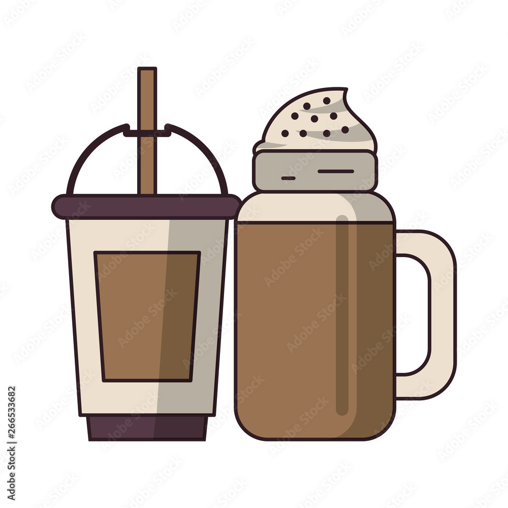 kawa Cafe koncepcja kreskówka
