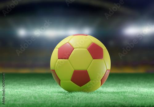 Piłka na murawie stadionu - 3D renderowania