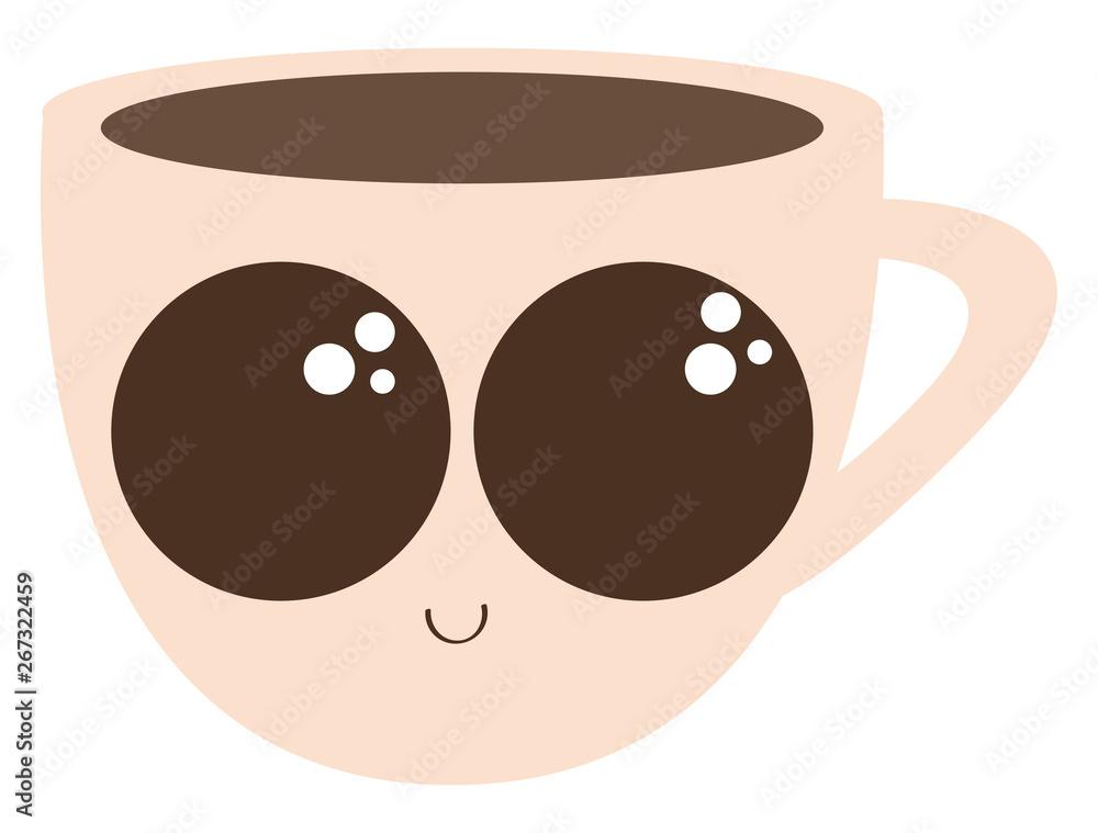 Obraz filiżanka kawy, ilustracji lub kolorowe ilustracje.
