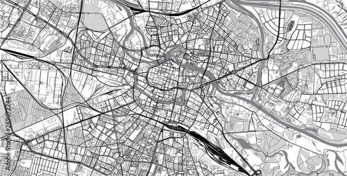 Miejski wektor mapa miasta Wrocławia, Polska