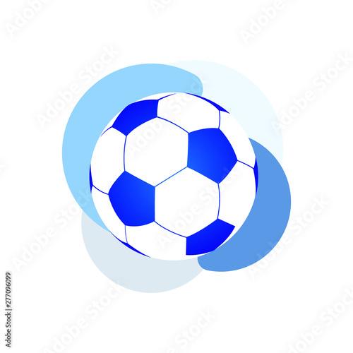 Ikona wektor piłki nożnej. Ikona Niebieski balon na białym tle. Piłka nożna ikona.