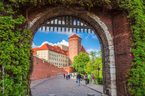 Piękny zamek na Wawelu w Krakowie, Polska.