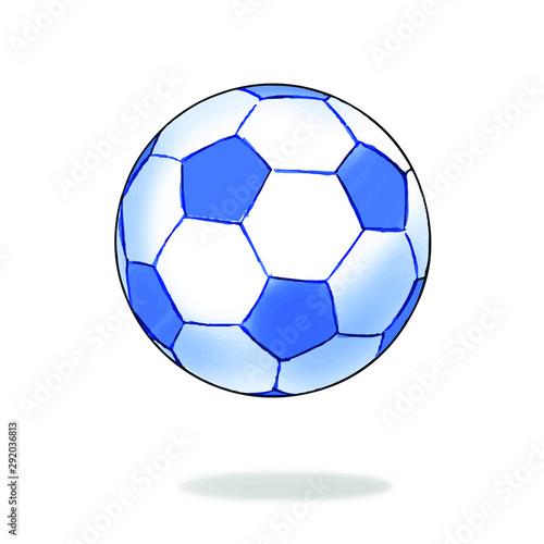Piłka ręcznie rysowane, szkic stylu. Na białym tle białe tło.
