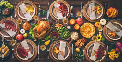 Obchody Dnia dziękczynienia tradycyjny obiad