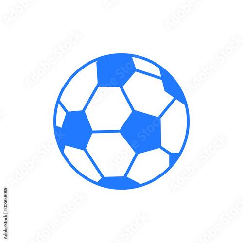 jest to prosty styl klasyczny piłka nożna lub piłka w kolor niebieski