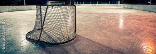 hokej net na odkrytym lodowisku