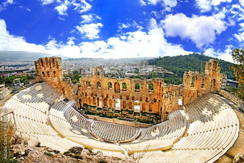 starożytny teatr w Akropolu w Grecji, Athnes