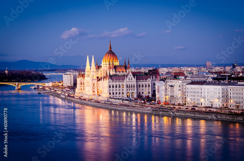 Budapeszt, parlament w nocy