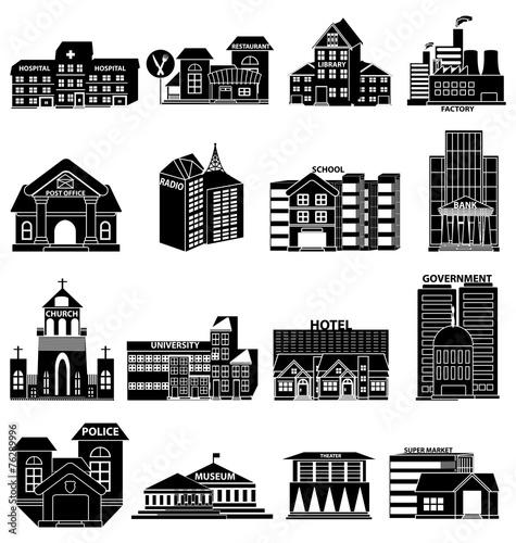 Budynki publiczne ikony