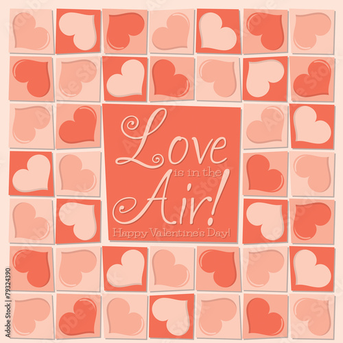 Dzień życzeniami funky mozaika miłość, serce, Walentynki w formacie wektorowym.