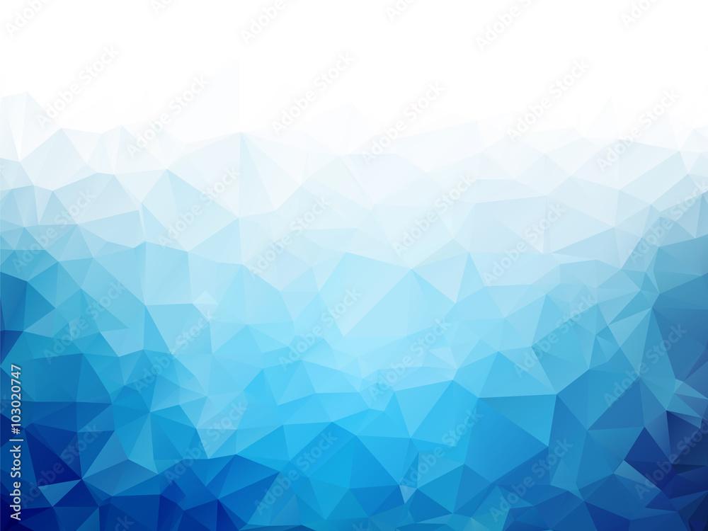 Geometryczne niebieski lód tekstura tło