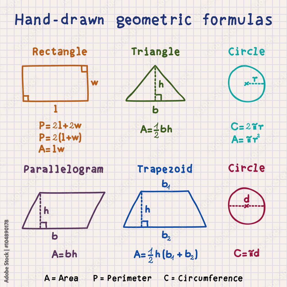 Ciągnione geometryczne wzory