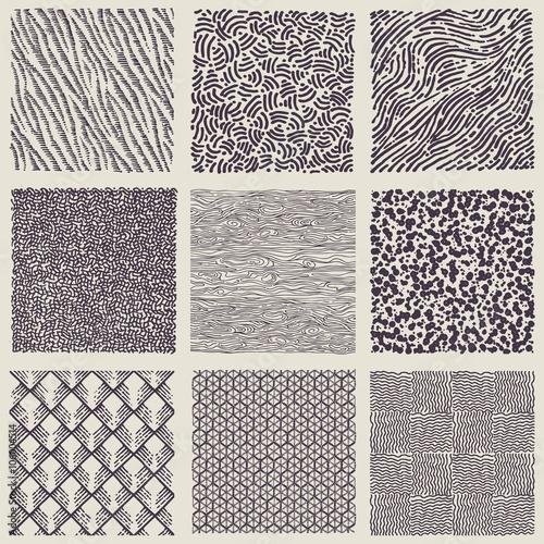 Zestaw rysowane ręcznie markerem i wzory atramentu