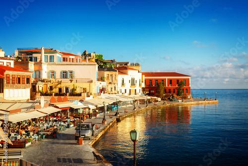 zatokę Chania w słoneczny letni dzień, Kreta, Grecja, тонированые