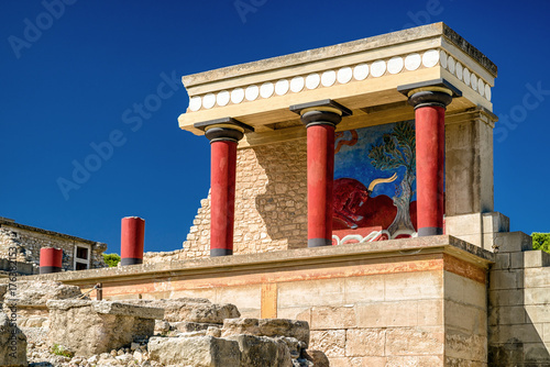 Pałac w knossos, Kreta, Grecja