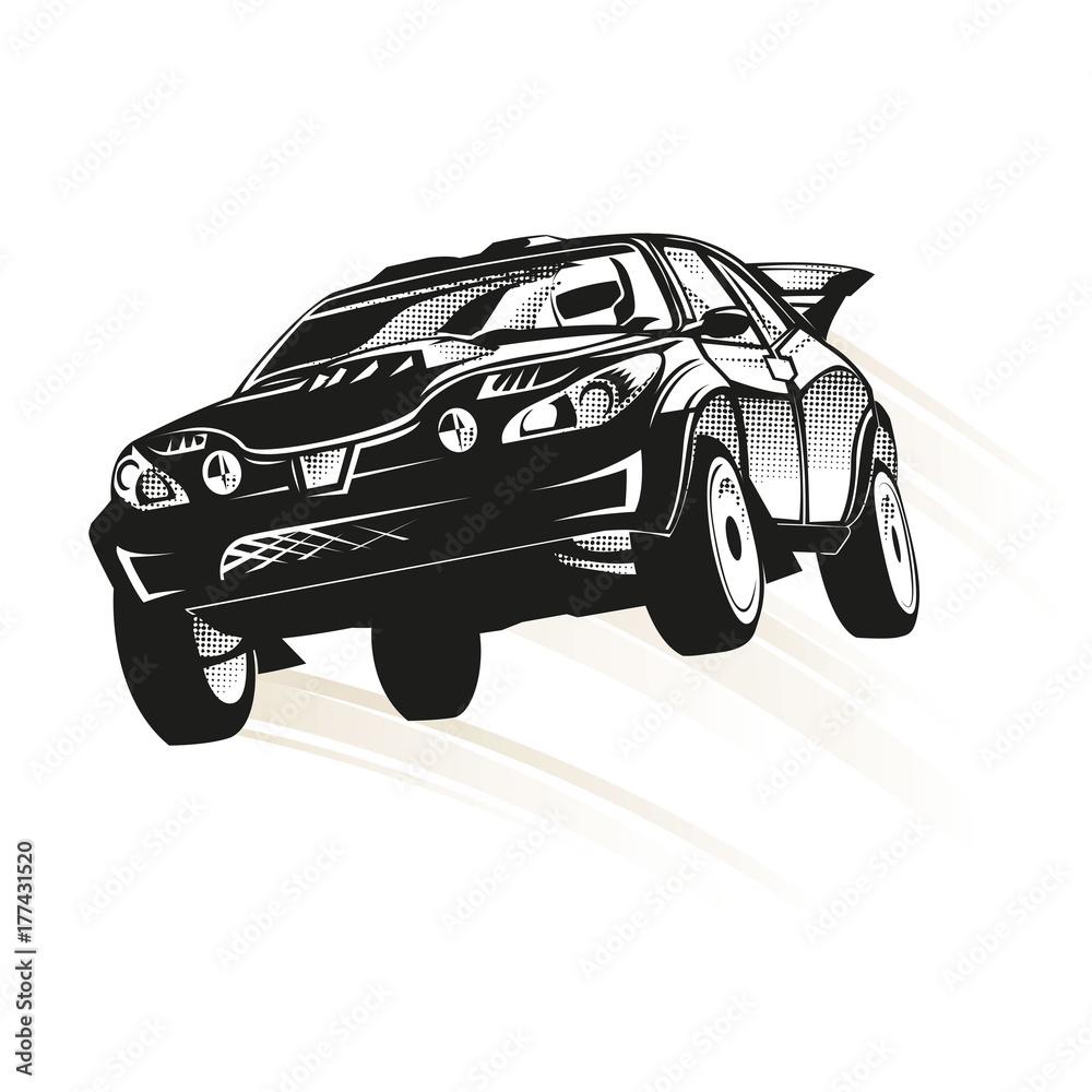 Samochód rajdowy skakać