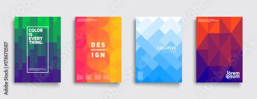 Kolorowa mozaika projekt okładki. Minimalny wzór geometryczny gradientów. Eps10 wektor.