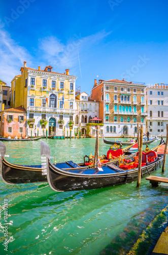 Panoramiczny widok na słynny canal Grande w Wenecji, Włochy