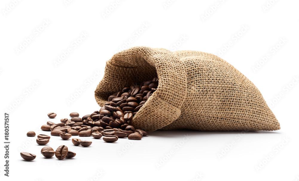 Ziarna kawy wysypywały się z juty