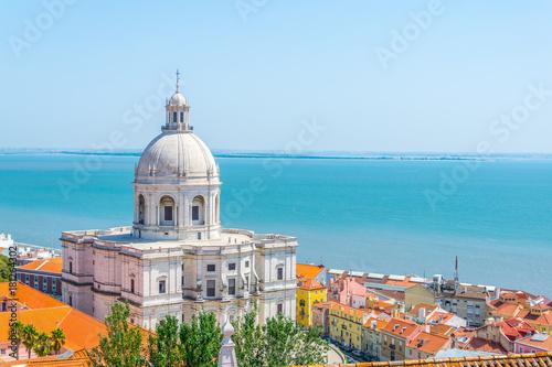 Widok z powietrza na panteon narodowy w Lizbonie, Portugalia