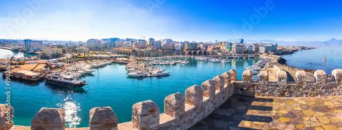 Port w heraklionie z stary wenecki Fort-Kule i stoczni, Kreta, Grecja