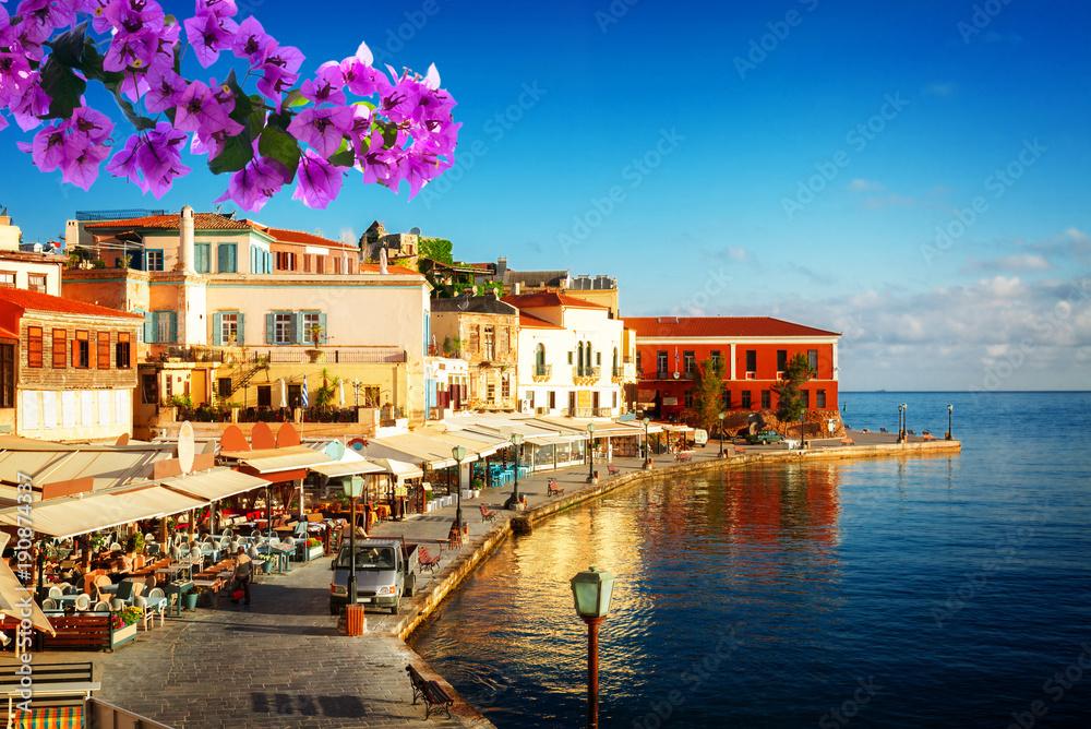 portu Chania, Kreta, Grecja