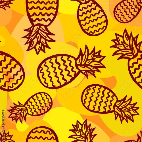 ananas bezszwowe tło