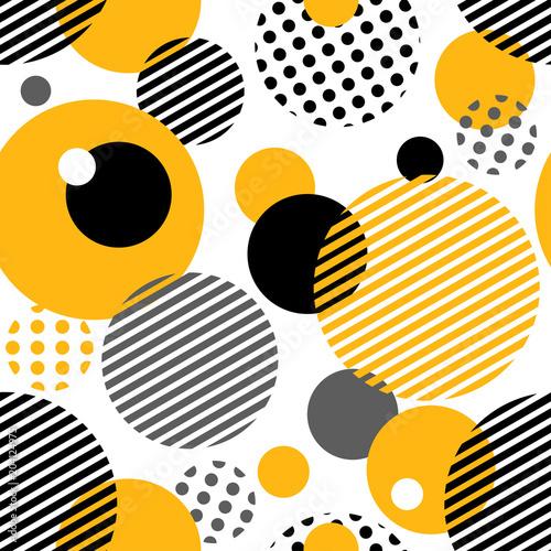 Geometryczny wzór z koła, paski, kropki. Szablon dla Mody i tapety. Ilustracji wektorowych.