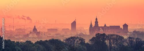 Kraków Stare miasto wcześnie rano